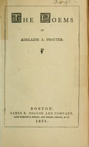 Cover of: The poems of Adelaide A. Prodter | Adelaide Anne Procter
