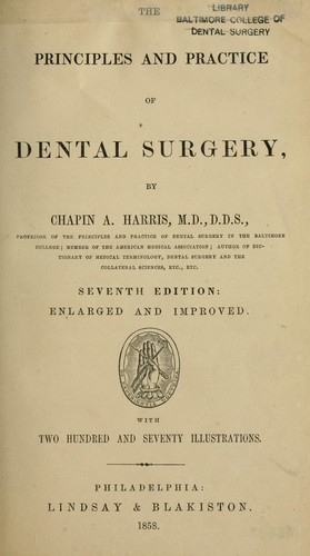 The principles and practice of dental surgery by Chapin Aaron Harris