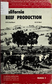 Cover of: California beef production | Harold Reed Guilbert