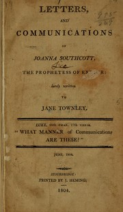 Cover of: Letters, and communications of Joanna Southcott | Joanna Southcott