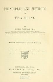 Cover of: Principles and methods of teaching | Welton, J.