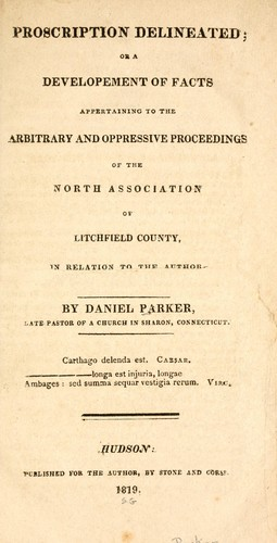 Proscription delineated by Parker, Daniel