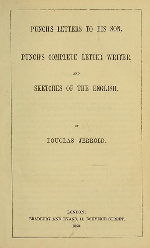 Punch's letters to his son by Douglas William Jerrold