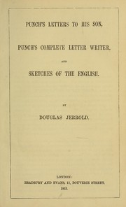 Cover of: Punch's letters to his son by Douglas William Jerrold