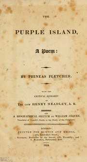 Cover of: The purple island, a poem | Phineas Fletcher