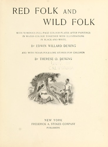 Red folk and wild folk by Deming, Therese (Osterheld)