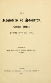 Cover of: The registers of Stourton, County Wilts, from 1570 to 1800 | Harleian Society.