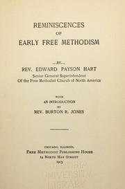 Cover of: Reminiscences of early Free Methodism | Edward Payson Hart