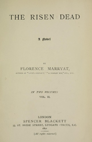 The risen dead by Florence Marryat