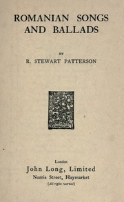 Cover of: Romanian songs and ballads | R. Stewart Patterson