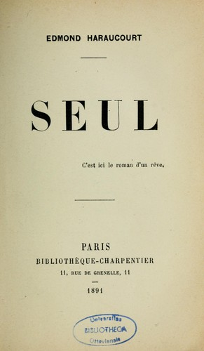 Seul by Edmond Haraucourt