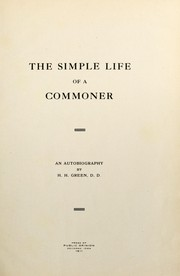 Cover of: The simple life of a commoner | Green, H. H.