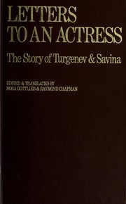 Cover of: Letters to an actress by Ivan Sergeevich Turgenev