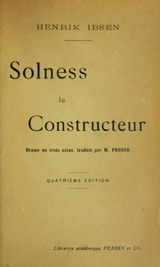 Cover of: Solness le constructeur | Henrik Ibsen