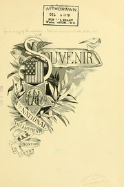 Cover of: Souvenir 24th national encampment by Grand army of the republic. National encampment. 24th, Boston, 1890.