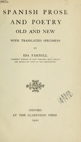 Spanish prose and poetry by Ida Farnell