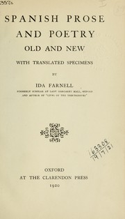 Cover of: Spanish prose and poetry by Ida Farnell