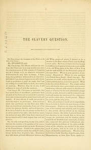 Cover of: Speech of Hon. J. A. Hughston, of New York, on the slavery question, delivered in the House of representatives, April 8, 1856 | Jonas A. Hughston