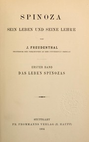 Cover of: Spinoza by Jacob Freudenthal