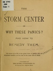 Cover of: The Storm center |