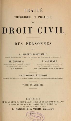 Traité Théorique Et Pratique De Droit Civil Open Library