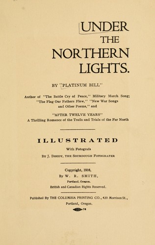 Under the Northern Lights by Wilfrid Robert Smith