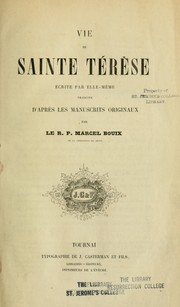 Cover of: Vie de Sainte Térèsa by Teresa of Avila, Saint
