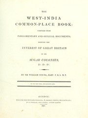 Cover of: The West-India common-place book | Young, William Sir