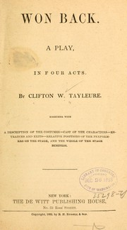 Cover of: Won back | Clifton W. Tayleure