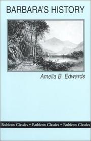 Cover of: Barbara's History | Amelia B. Edwards