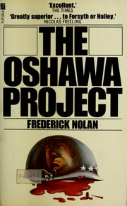 Cover of: The Oshawa Project by Nolan, Frederick.