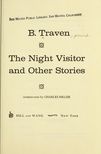 The night visitor and other stories by B. Traven