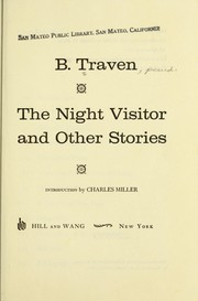 Cover of: The night visitor and other stories by B. Traven