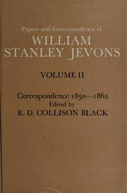 Cover of: Papers and correspondence of William Stanley Jevons | William Stanley Jevons