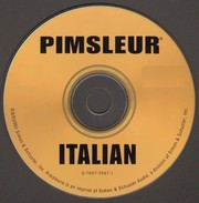 Cover of: Pimsleur Instant Conversation Italian [sound recording] by Pimsleur Language Method