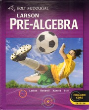 Cover of: Holt McDougal Pre-Algebra by Ron Larson