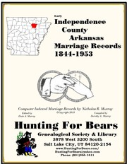 Cover of: Early Independence County Arkansas Marriage Records 1844-1953 | Nicholas Russell Murray