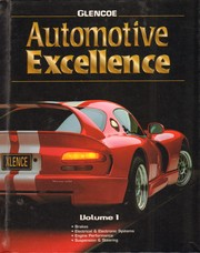 Cover of: Automotive Excellence, Volume 1, Student Text | McGraw-Hill