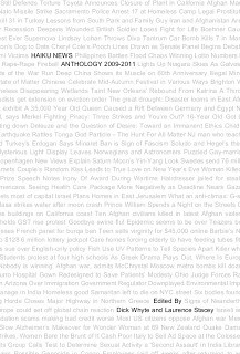 Haiku News Anthology 2009-2011 by Dick Whyte, Laurence Stacey