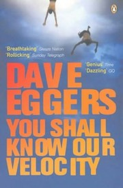 Cover of: YOU SHALL KNOW OUR VELOCITY by Dave Eggers