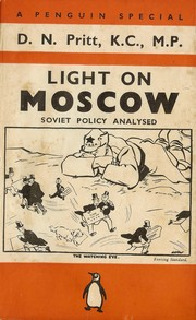 Cover of: Light on Moscow by D. N. Pritt