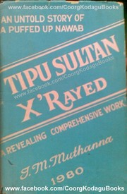 Cover of: Tipu Sultan x'rayed | I. M. Muthanna