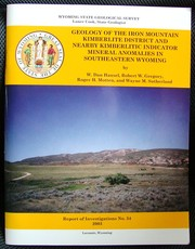 Cover of: Economic Geology of the Iron Mountain Kimberlite District | W. Dan Hausel, R. W. Gregory