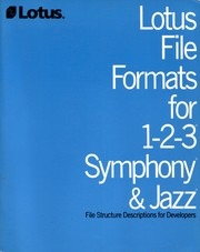 Cover of: Lotus File Formats for 1-2-3 Symphony & Jazz by LOTUS