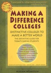 Cover of: Making a Difference Colleges | Miriam Weinstein