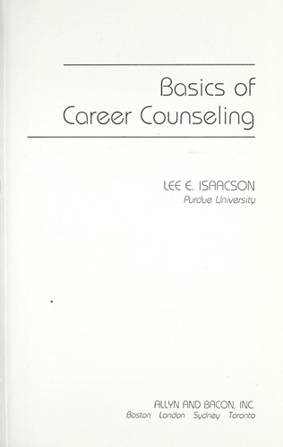 Basics of careercounseling by Lee E. Isaacson