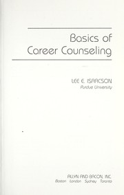 Cover of: Basics of careercounseling | Lee E. Isaacson