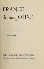 Cover of: France de nos jours by Charles Carlut
