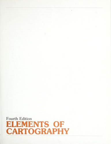 Elements of cartography by Arthur Howard Robinson