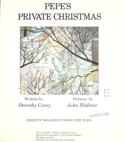 Pepe's private Christmas by Dorothy Corey